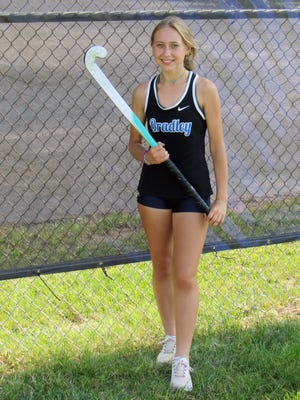 Bradley junior Cate Cunningham is in her first season with the cross country program, and she also plays midfielder for the Hilliard Lynx club field hockey team. Her passion for distance running started with competing in the 3,200 meters for the Jaguars' track program.