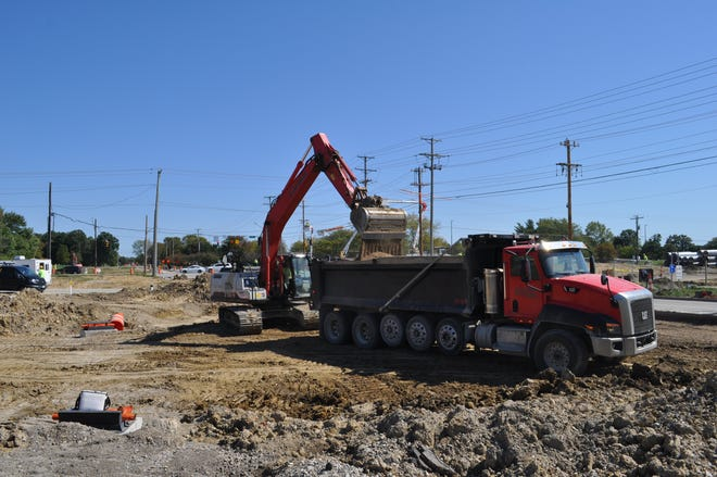 Construction was underway Sept. 29 on the new Turkey Hill convenience store and gas station at the southwest corner of Avery and Shier Rings roads in Dublin.