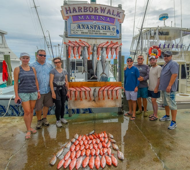 Anglers aboard the Anastasia with Capt. Tony Davis filled the racks with mingo and mackerel on a recent trip out of Destin.