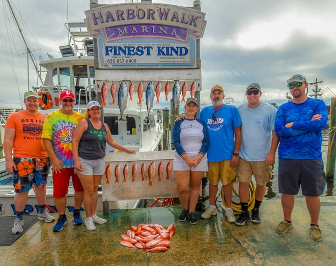 Mingo was the catch of the day aboard the Finest Kind with Capt. Jason Mikel on a recent trip out of Destin.