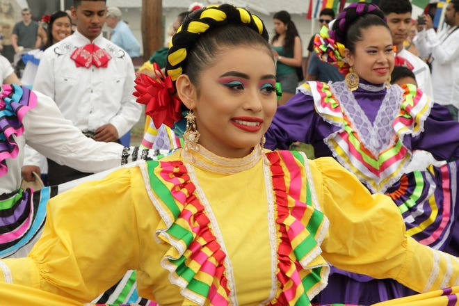 A dancer with Ballet Folklorico Guadalupano dances at the Lexington City Multicultural Festival in 2018. While the usual festival did not take place again this year in May, Lexington City Parks and Recreation staff members will host a Multicultural Showcase Saturday at the Breeden Insurance Amphitheater.