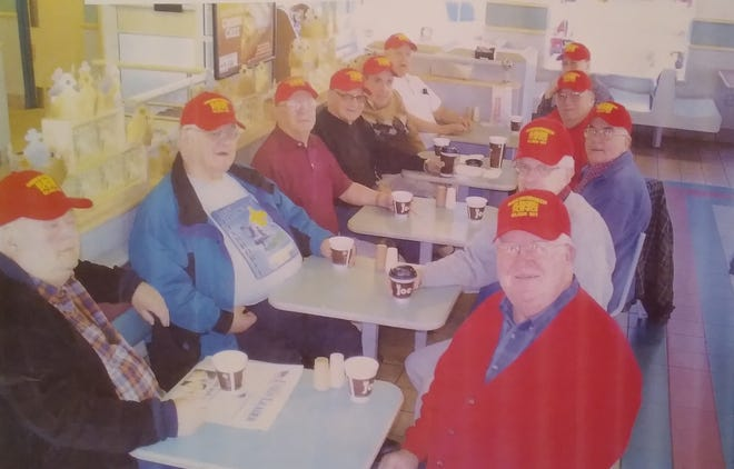 Somersworth Burger King Civics Class 101 included, clockwise, Ray Lessard, Al Couture, Jack LaBonte, Bob Perreault, Ben Tremblay, Moe Lizotte, Roger Vigneault, Lewis Fields, Roger Landry, Mike Watman and Dick LaBonte.