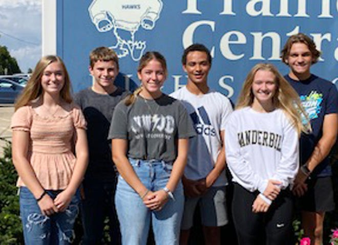 The class attendants for the Homecoming Court for 2021 at Prairie Central High School have been named. The class attendants on the court are, in photo at right from left, freshmen Ellie Ellis and Luke Ifft, sophomores Claire Dunahee and Donovan Lewis and juniors Reily Young and Connor Gibson.