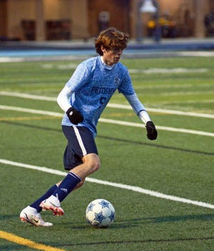 Petoskey's Cam Adams scored the lone goal and came through with a strong defensive performance against TC West Tuesday.