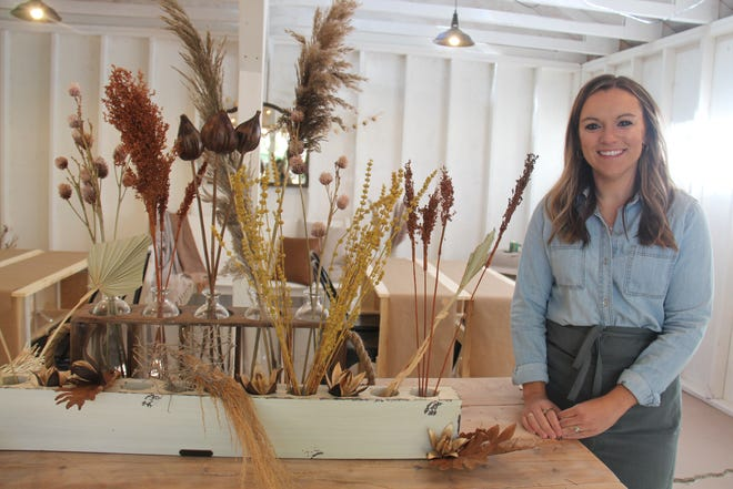 Beth Gittins poses for a photo inside the Shoppe in the Woods. The Shoppe is set to open on Oct. 1-2 at 2291EAve.,Perry, with workshops and an open house on Saturday, Oct. 2.