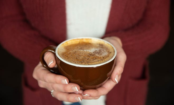'Sweater Weather' is made with toffee nut, pumpkin, cardamom, and cinnamon put together with espresso and oat milk at Demolition Coffee in Petersburg.