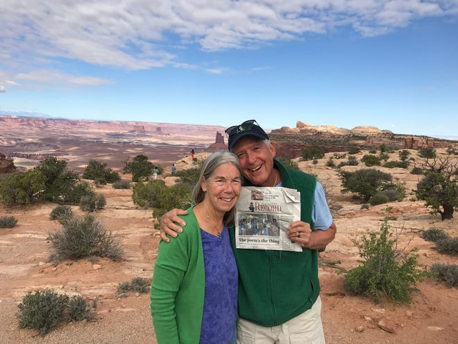 St. Augustine residents and children authors Nancy and Arthur Culbert visit Moab, Utah, to visit  The Arches and Canyonland national parks.
