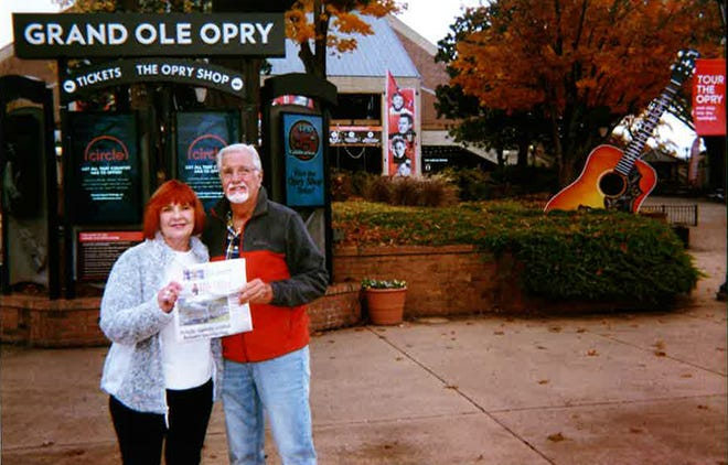 Ronald Rich and Susan Steward took The Record to Nashville to visit junior high school friends.