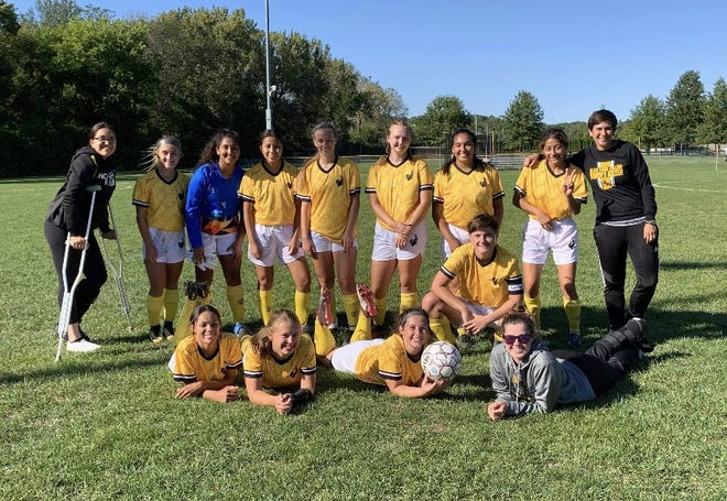 Black Hawk College's fledgling women's soccer team after posting the its first win last week.