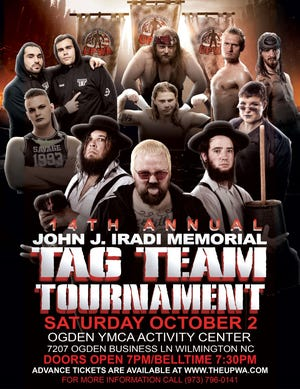 The 14th annual John J. Iradi Memorial Tag Team Tournament will be held Oct. 2 at Ogden YMCA Activity Center.