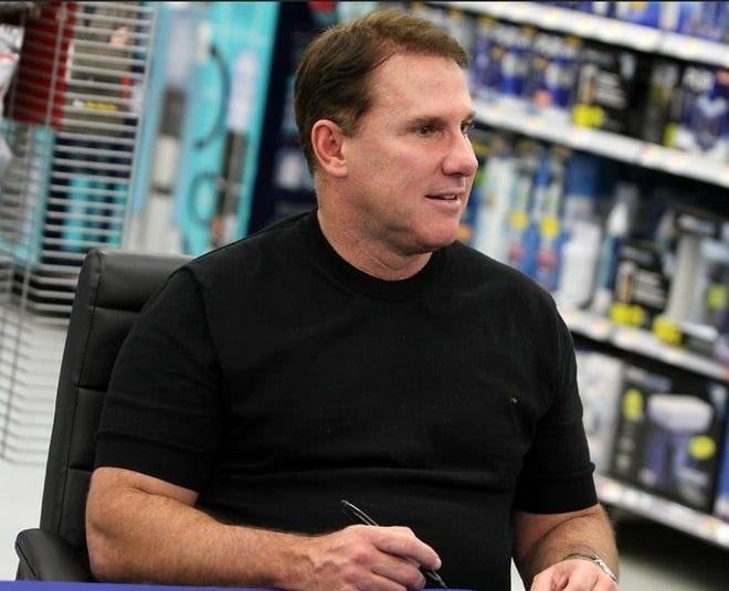 """Author Nicholas Sparks signs autographs at the hometown release of his book """"Every Breath."""" Thousands of readers and fans had the opportunity to meet and greet the best-selling romance novelist and screenwriter at Walmart in New Bern, N.C., Oct. 23, 2018."""