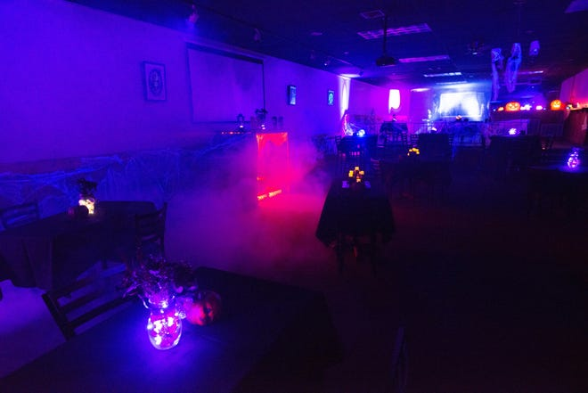 """The upstairs area at Norseman Brewing Co., 830 N. Kansas Ave., has been transformed into """"Apparition: Spookeasy,"""" a Halloween themed popup cocktail bar complete with spooky decor, a maze and Halloween inspired drinks. The popup opens Oct. 1 and runs Thursday, Friday and Saturday until Oct. 31."""