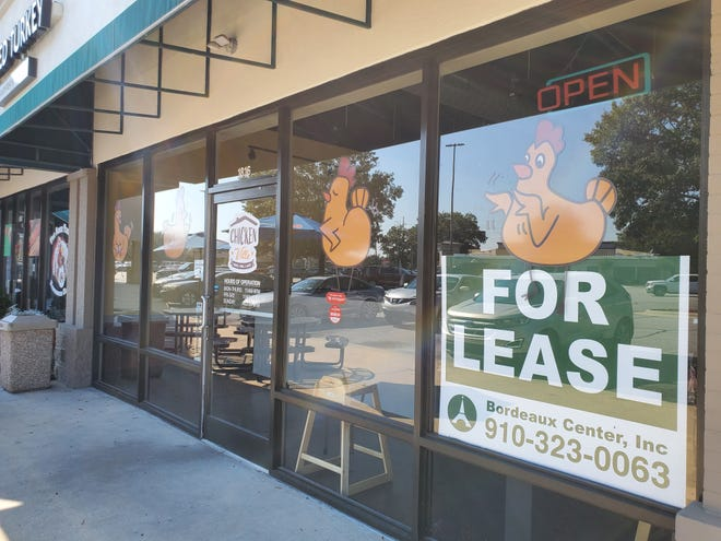 The Chickenville restaurant in the Bordeaux Center in Fayetteville is now up for lease.