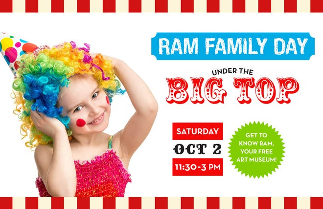 """The Fort Smith Regional Art Museum will host """"Under the Big Top"""" on Saturday from 11:30 a.m. to 3 p.m."""