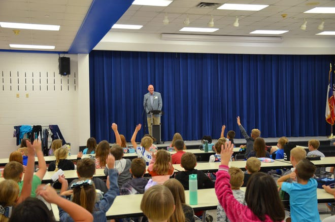 Mayor Jim Atchison took on Partin Elementary School this week for a local government lesson.