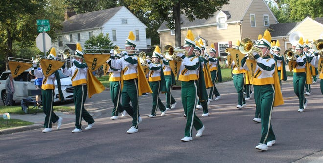 Roncalli's marching band placed first in Roncalli's Marching Band Festival Wednesday morning in Aberdeen. The band also received and award for best flag corps.