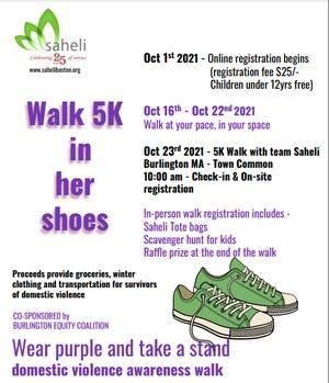 Walk in Her Shoes 5K flyer.