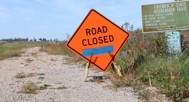 The section of the Friendship Trail between Clayton Avenue and State 76 in Clayton is closed for a utility project.