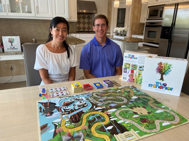 Lucy White and Derek White, creators of True Frenemies, a Christian-inspired board game.