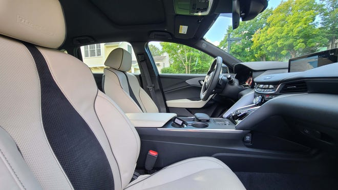 The 2021 Acura TLX Type S's roomy front seats.