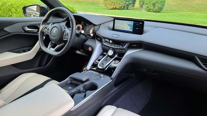 The unique, sc-fi interior of the 2021 Acura TLX Type S.
