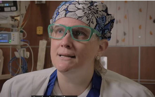 Screenshot of UK ER Charge Nurse Meg Pyper