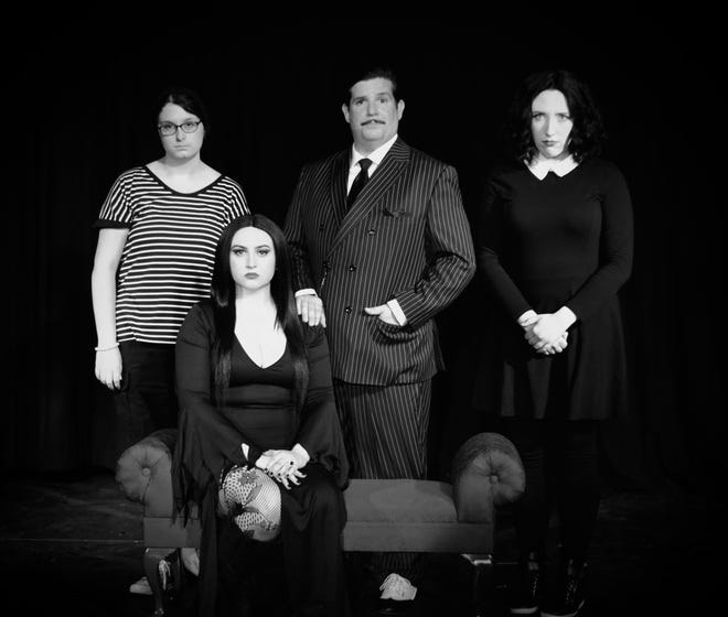 Cast members from The Adams Family at Prattville's Way Off Broadway Theatre.