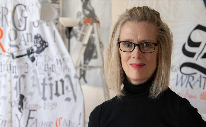 """Lesley Dill is an artist whose work """"Wilderness: Light Sizzles Around Me"""" is coming to the Montgomery Museum of Fine Arts."""
