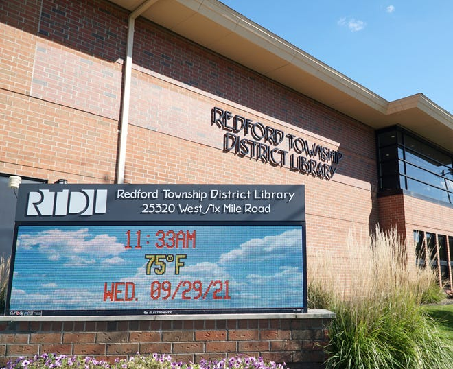 The Redford Township District Library on Six Mile Road.