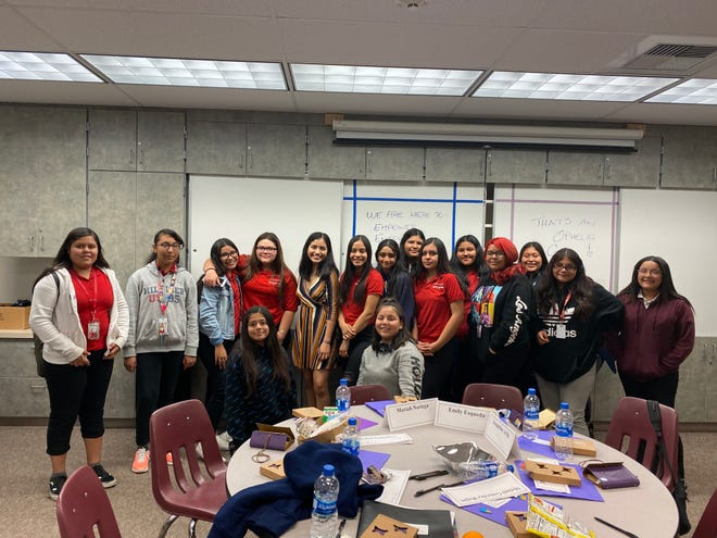 A student group at Thomas Jefferson Middle School in Indio receives funding from the city's Community Grant/Sponsorship Program in 2020.