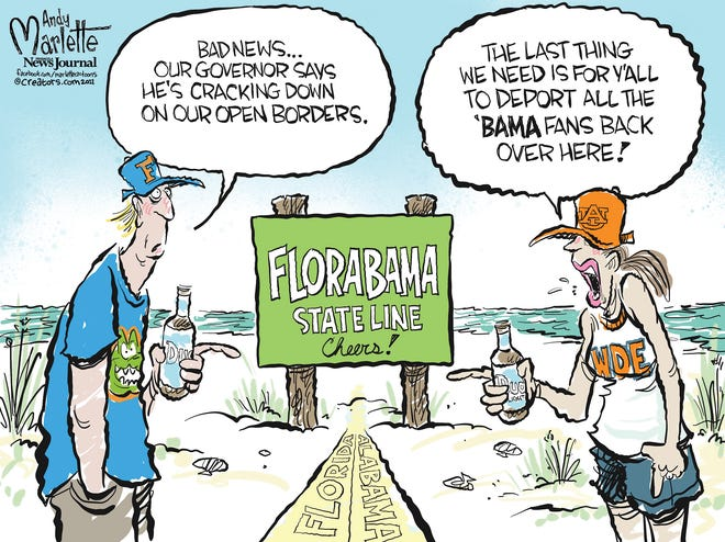 Marlette cartoon: Florida open borders crackdown