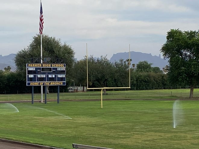 Parker High's football stadium sits on the Colorado River Indian Tribes reservation. Photo courtesy of Parker Unified School District