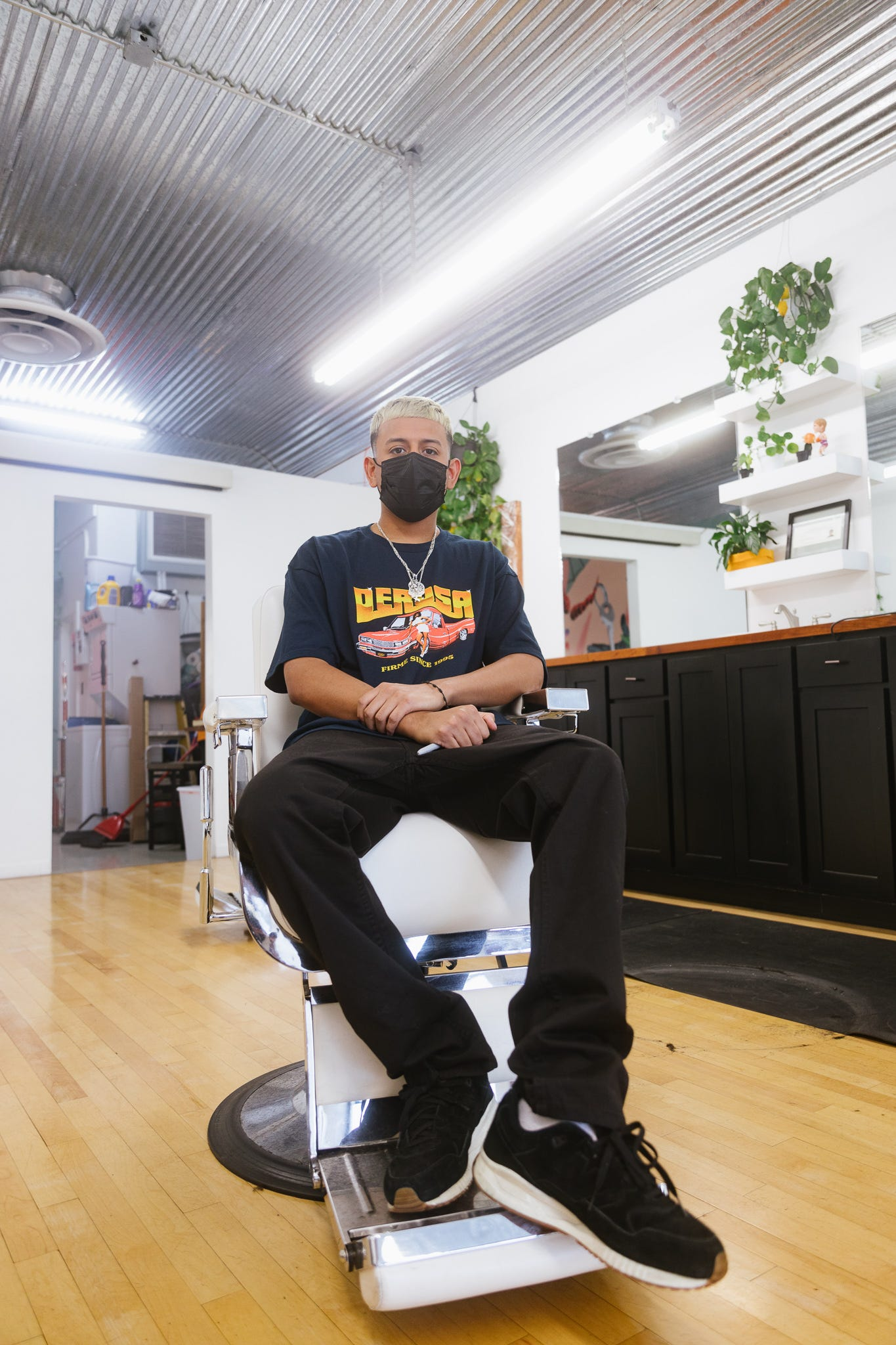 Jessie A. Ponce, 26, is the owner of the downtown Phoenix barbershop The Greater Good.