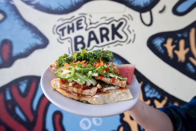The Bark's tofu banh mi –one of the restaurant's most popular menu items.