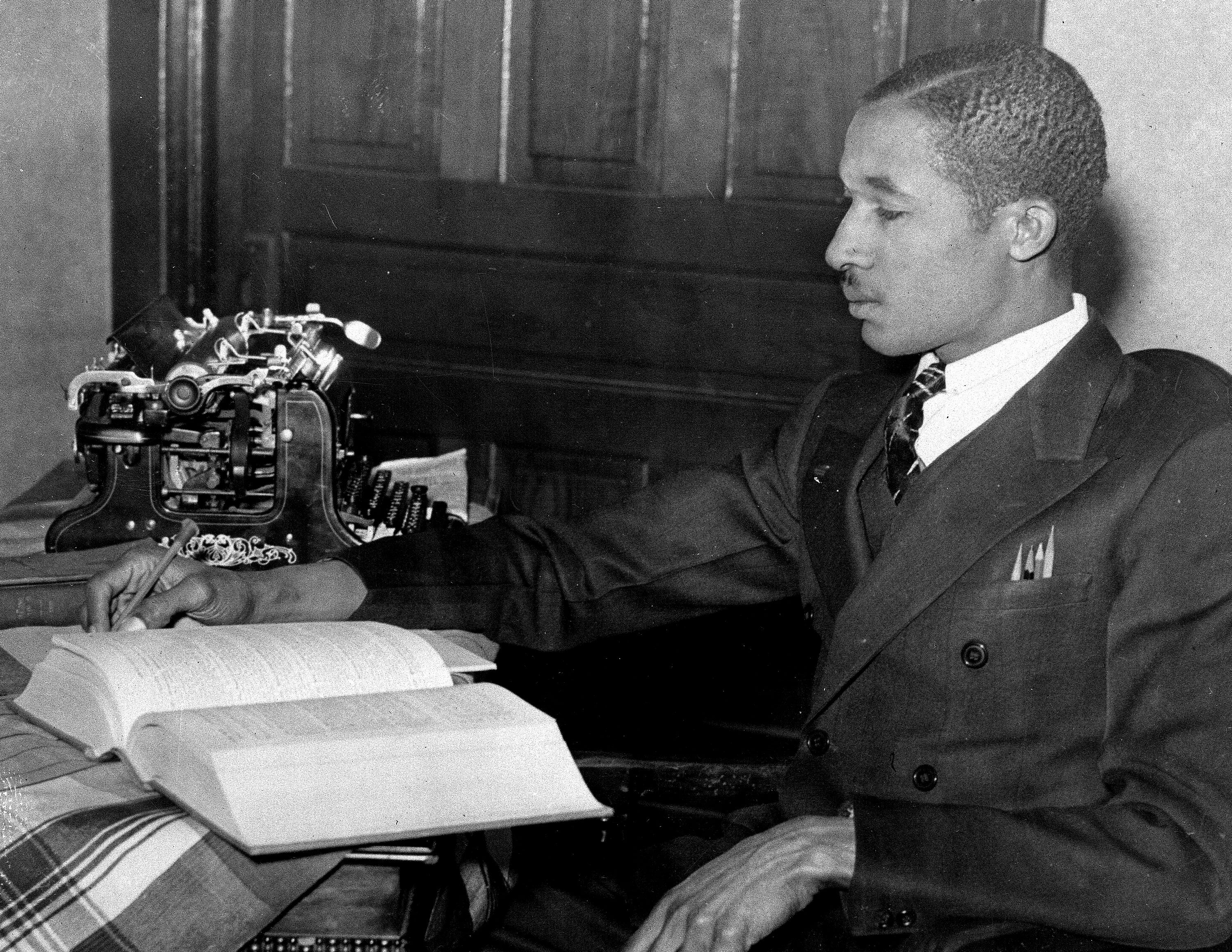 Lloyd Gaines in December 1938, who vanished in 1939 after winning a historic legal fight to attend the University of Missouri's law school as its first Black student.