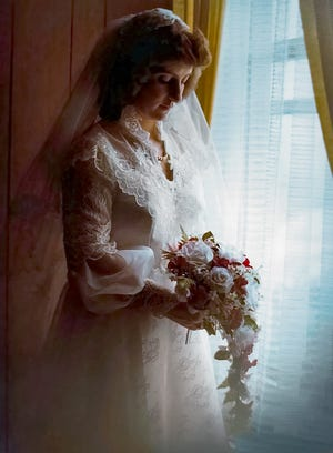 Pam Crawford on her wedding day in 1981.