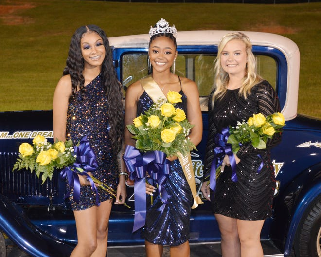 Jefferson County High School's 2021 Homecoming Queen is Jacque Copleand (center), first runner up is Khia Shields (at left) and second runner up is Lauren Usry.
