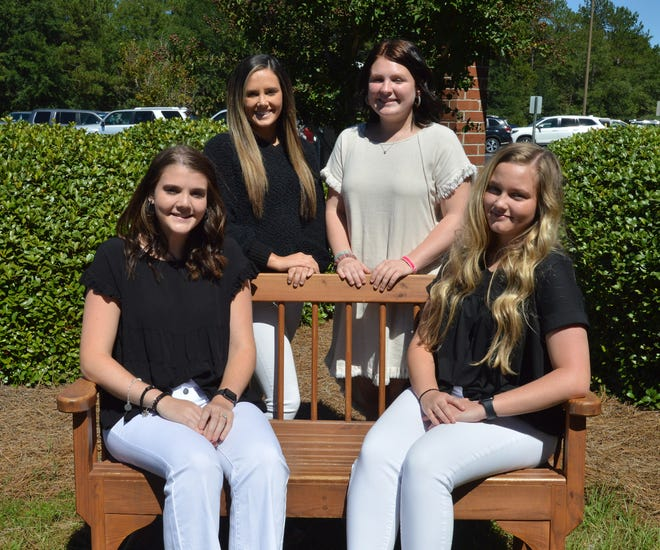 GCCS's senior 2021 homecoming candidates are (standing left to right) Ryleigh Coxville, Abbie Tiner, (seated) Carson Ellis, Mikaela Johns and (not pictured) Chesnie Stevens.