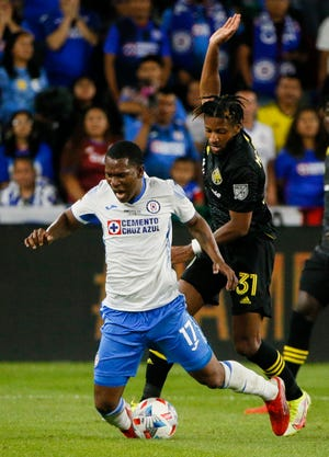 Columbus Crew defender Steven Moreira (31) made his first start for the club against Cruz Azul in a Campeones Cup victory.