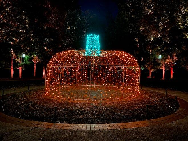 A pumpkin of lights at a previous Pumpkins Aglow.