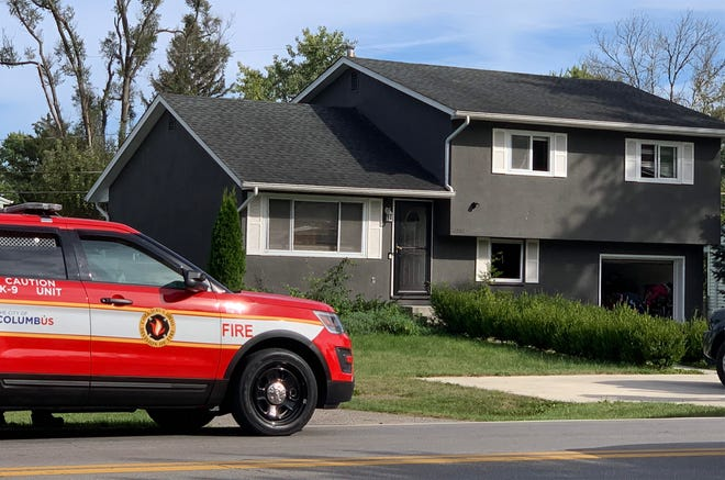 A woman was apparently strangled and set afire Thursday afternoon in the basement of this home on the 3500 block of Noe Bixby Road in Madison Township, court records indicate.