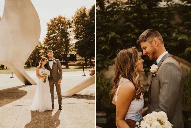 Lauren and Balázs Novák married on Oct. 16, 2020