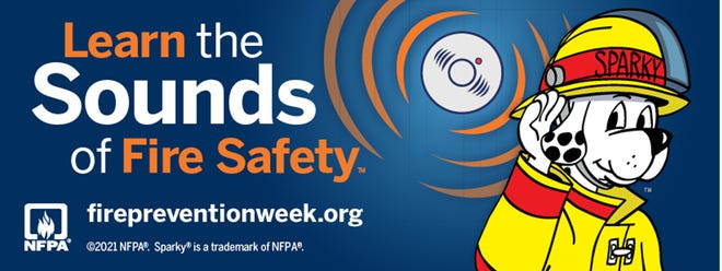 State Farm Agent Jake Rodden and the Eliot Fire Department are teaming up with the National Fire Protection Association to promote this year's Fire Prevention Week campaign, Learn the Sounds of Fire Safety.
