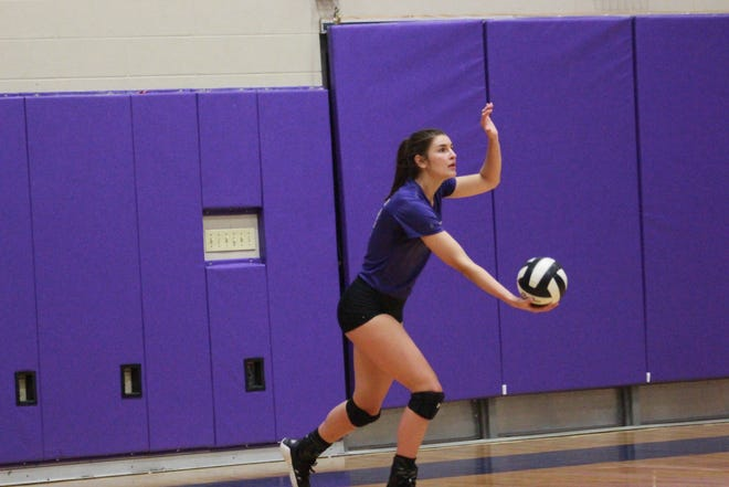 Dutchtown senior Alexis Logarbo had 15 assists and 12 kills in the Lady Griffins' 3-0 victory over St. Amant.