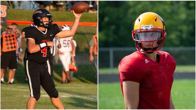 Pictured: (Left) Jonesville quarterback Cowen Keller and (Right) Reading quarterback Colton Bassage.