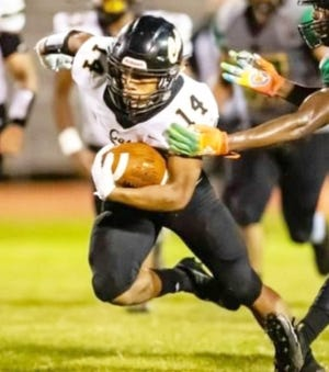 Leesville senior running back Caleb Gallashaw (with ball) will be looking to find the endzone frequently Friday night as the Wampus Cats host Minden for homecoming.