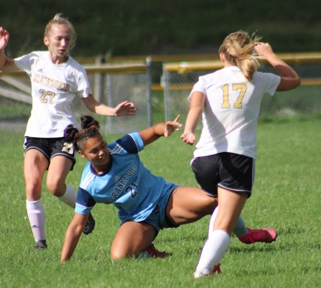 Frankfort and Keyser are seen doing battle in their first matchup from earlier this season.