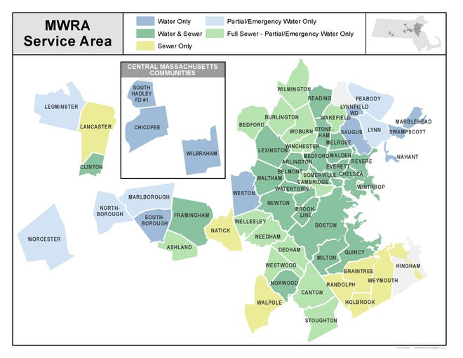 The Massachusetts Water Resource Authority serves dozens of communities.