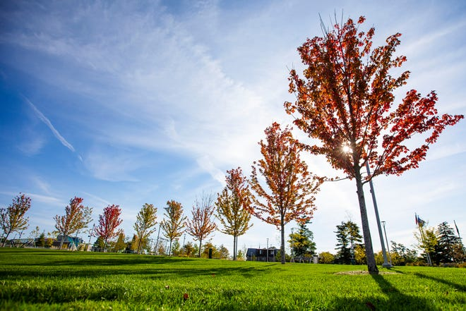 Fall colors starting to show Thursday, Sept. 30, 2021 at Howard Park in South Bend.