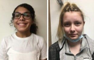 Left: Lilli Davis  Right: Ashley Taulbee